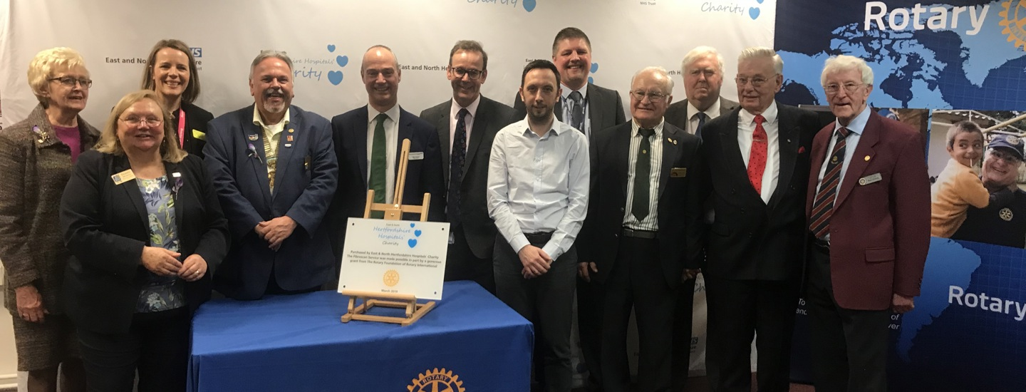 Hospital Charity purchases life-saving liver scanner with help from local Rotary Clubs